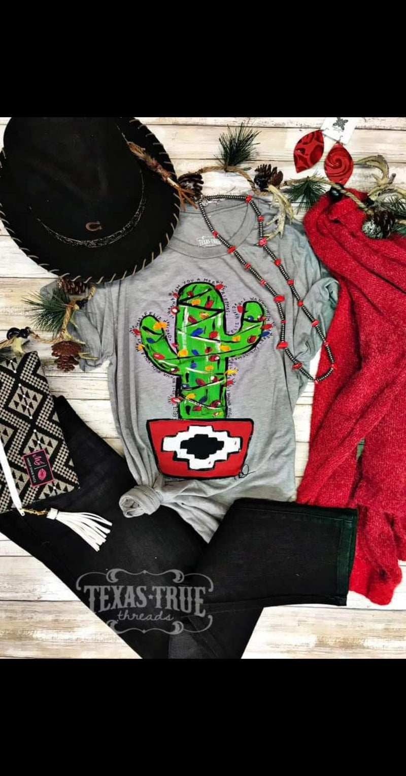 Christmas Cactus Top - Also in Plus Size