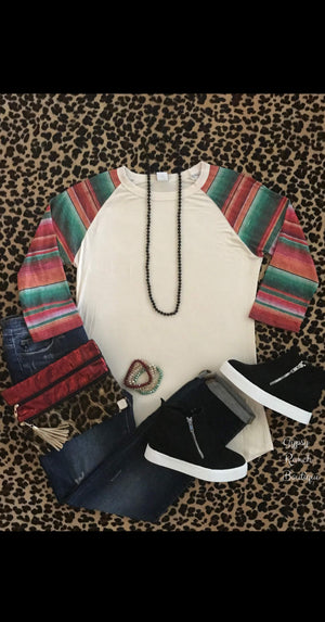 Baylor Serape Sleeve Top - Also in Plus Size