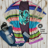 Calgary Striped Serape Cardigan - Also in Plus Size