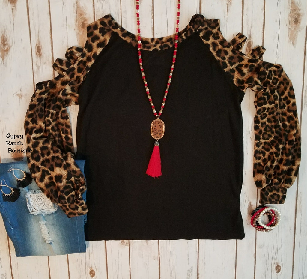 Brave The Leopard Sleeve Top