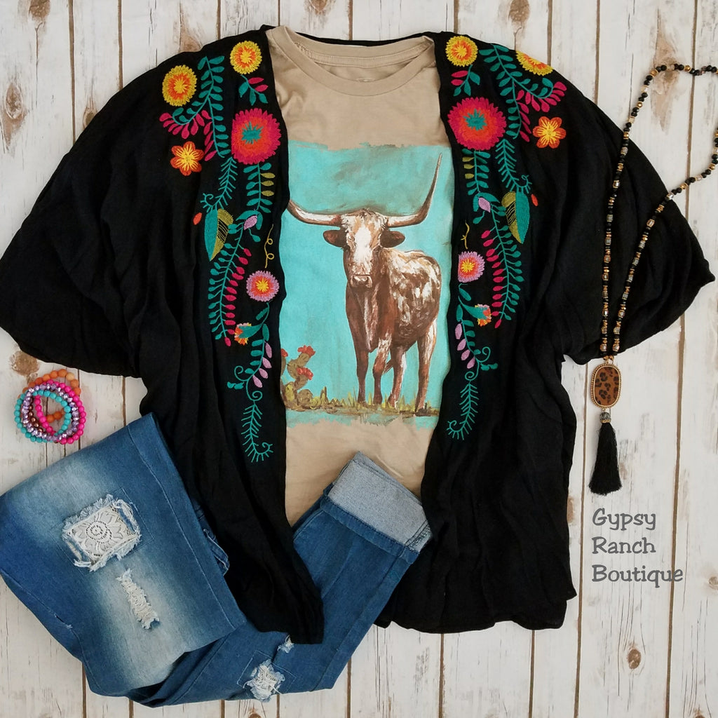 8f1011f275cf3 ... Double Bar Ranch Floral Embroidered Kimono - Also in Plus Size ...