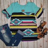 Sunset Tribal Top - Also in Plus Size