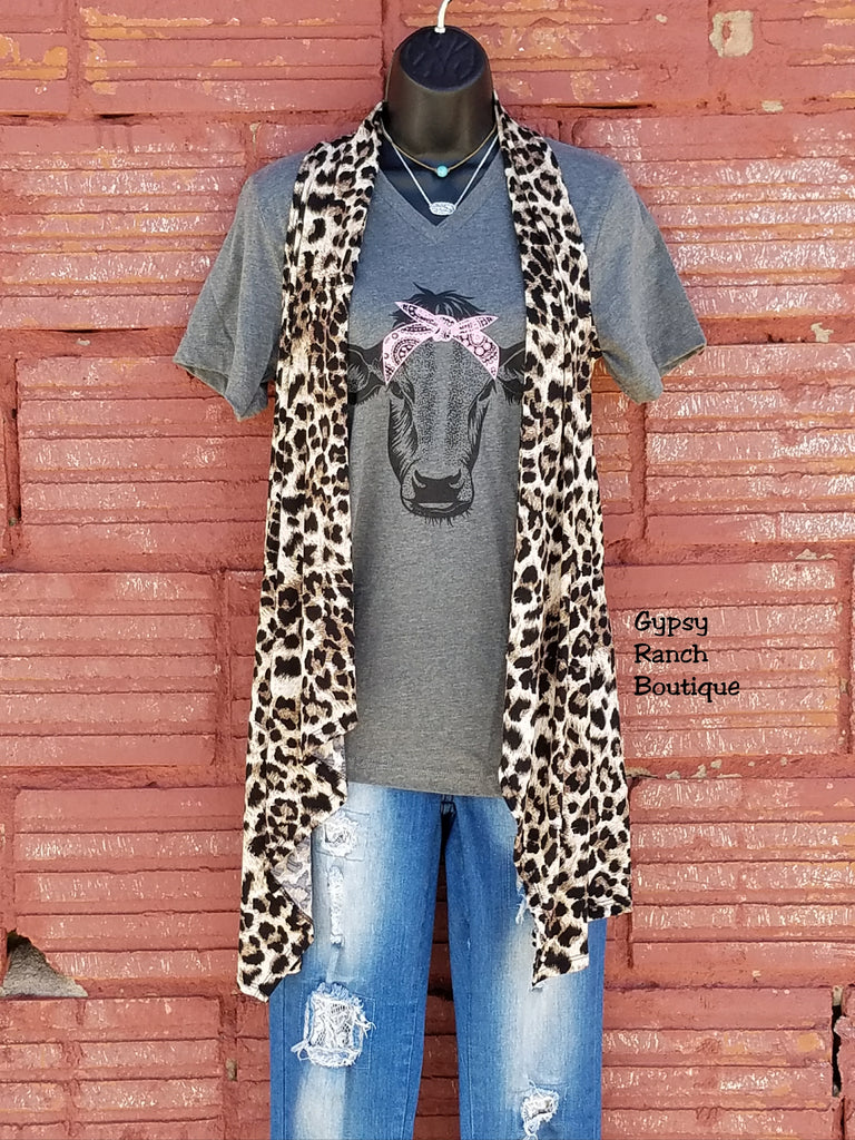 Ridley Leopard Vest-Also in Plus Size