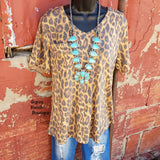 Give you Glory Leopard Top - Also in Plus Size