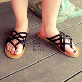 Breeley Black Strappy Sandals