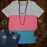 Millie Neon Color Block Top