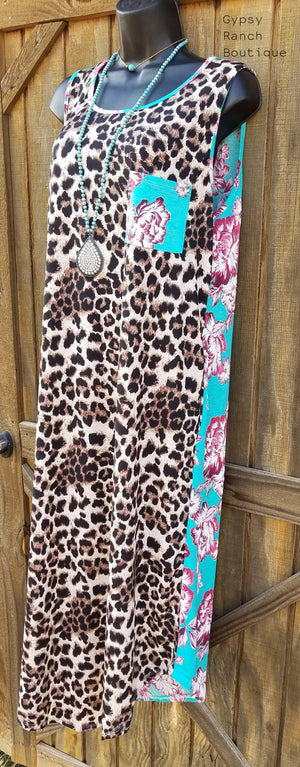 San Cabo Leopard & Floral Dress - Also in Plus Size