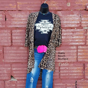 Laramie Leopard Caridgan - Also in Plus Size