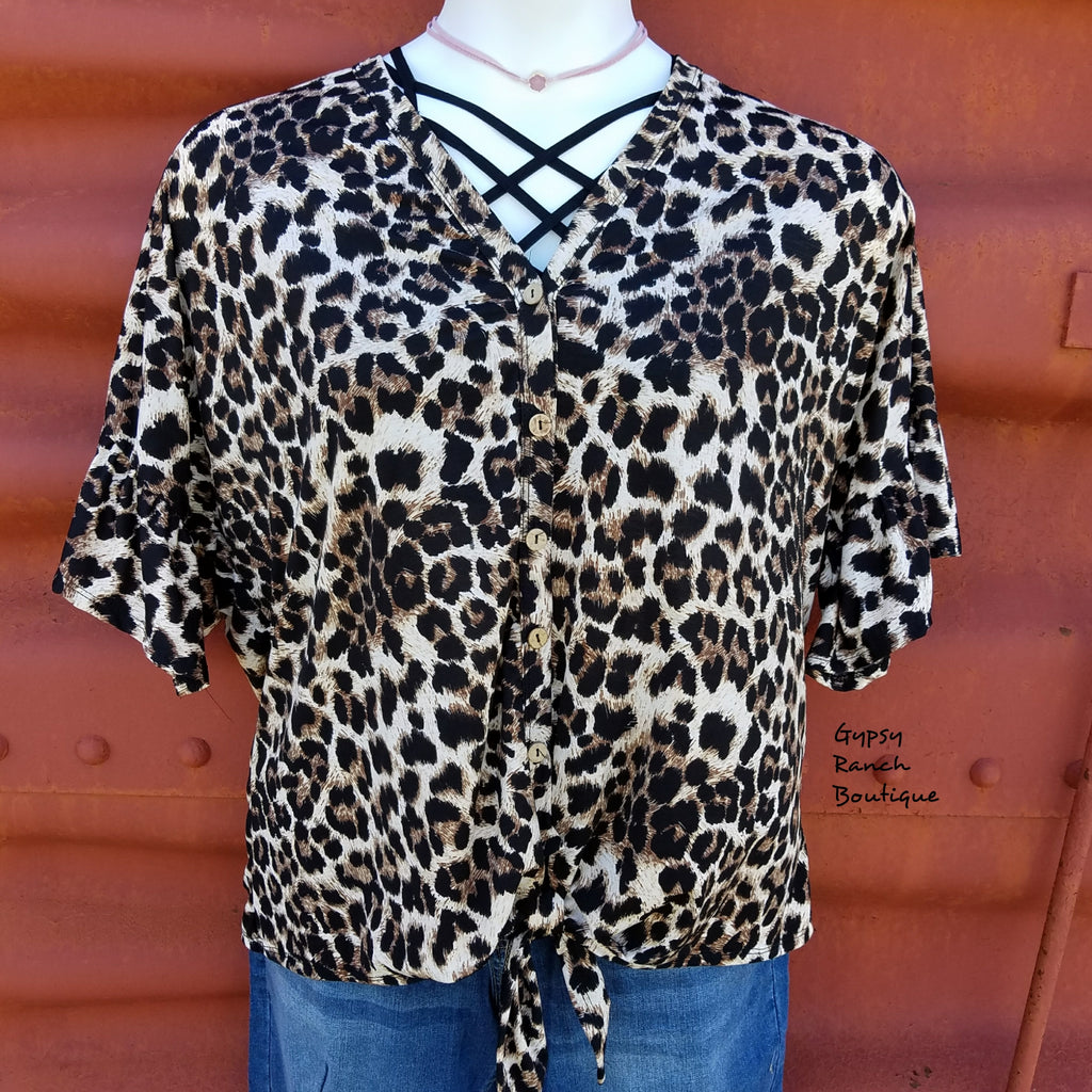 One Call Away Leopard Top - Also in Plus Size