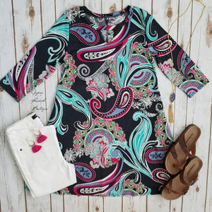 Paisley Frenzy Tunic  - Also in Plus Size