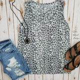 Colonies Leopard Criss Cross Tank Top - Also in Plus Size