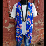 Smokey Mountain Floral Vest-Also in Plus Size