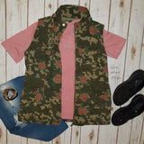 Best of the Vest Floral & Camo Cargo Vest With Hood