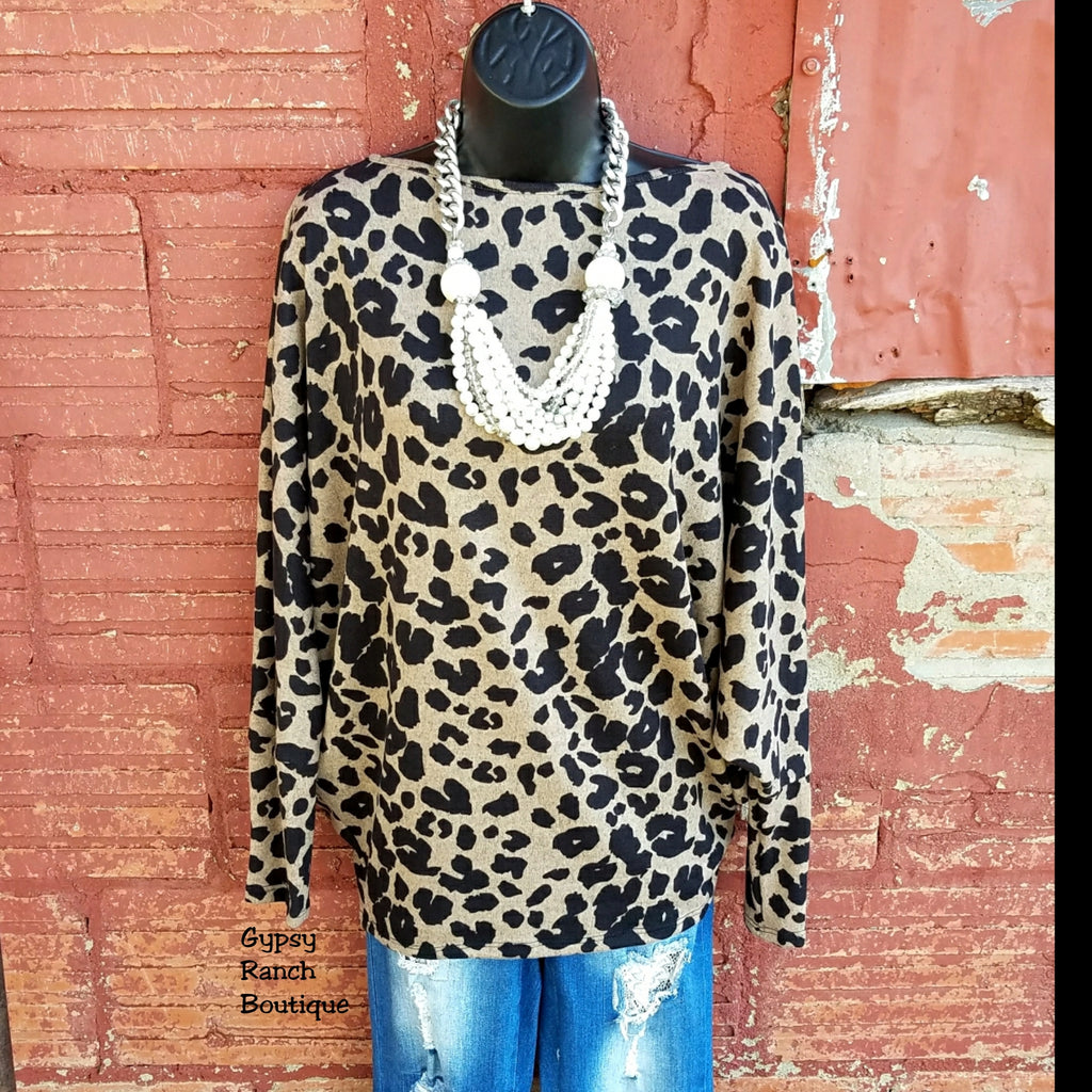 First Love Leopard Top - Also in Plus Size