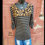 Pierce Leopard Top