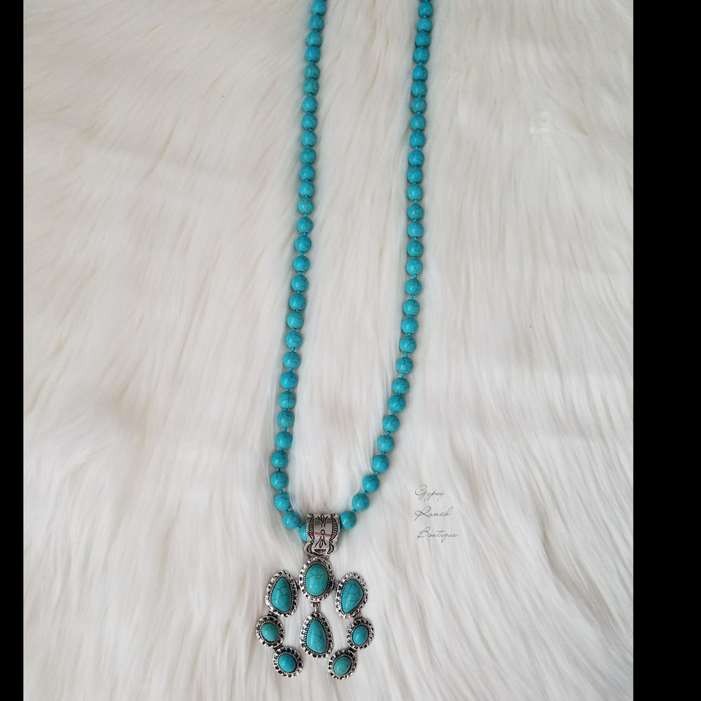 Tomorrows Turquoise Squash Blossom Necklace