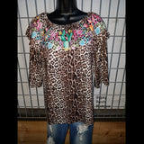 It's A Wild Ride Leopard Cactus Top - Also in Plus Size