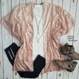 Pink Metallic Leopard Cardigan Kimono - Also in Plus Size