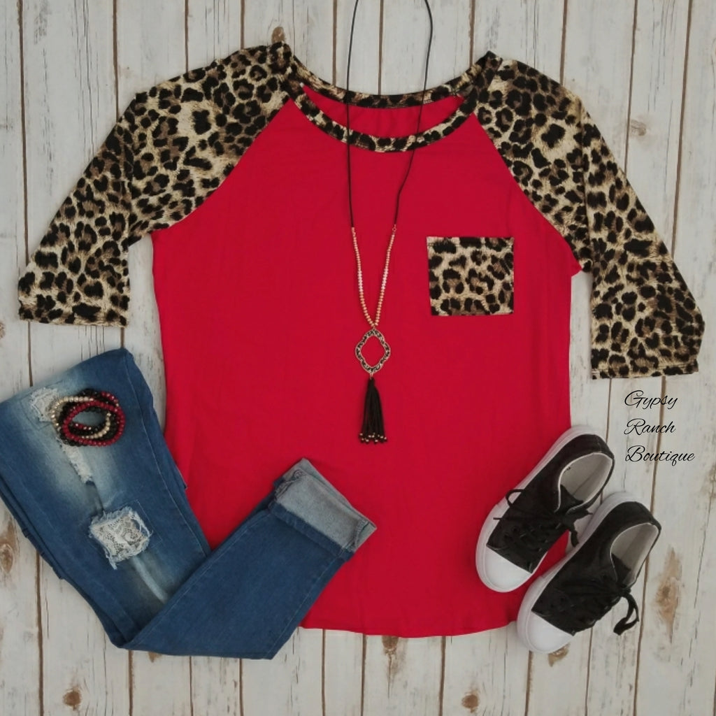 Crash My Party Red Leopard Top - Also in Plus Size
