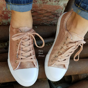 Blayze Rose Gold Glitter Shoes