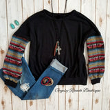 Marquee Black Serape Top