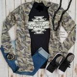 Clamity Camo Cardigan - Also in Plus Size