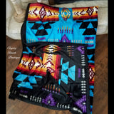 Las Cruces Turquoise Reversible Throw Blanket
