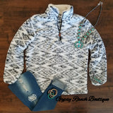 Preorder ships Oct 26 Back Roads Tribal Sherpa Pullover Top - Also in Plus Size