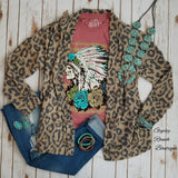 Lauderdale Cozy Leopard Cardigan - Also in Plus Size