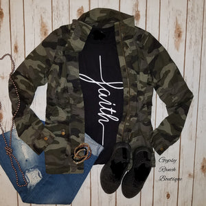Urban Camo Utility Jacket - Also in Plus Size