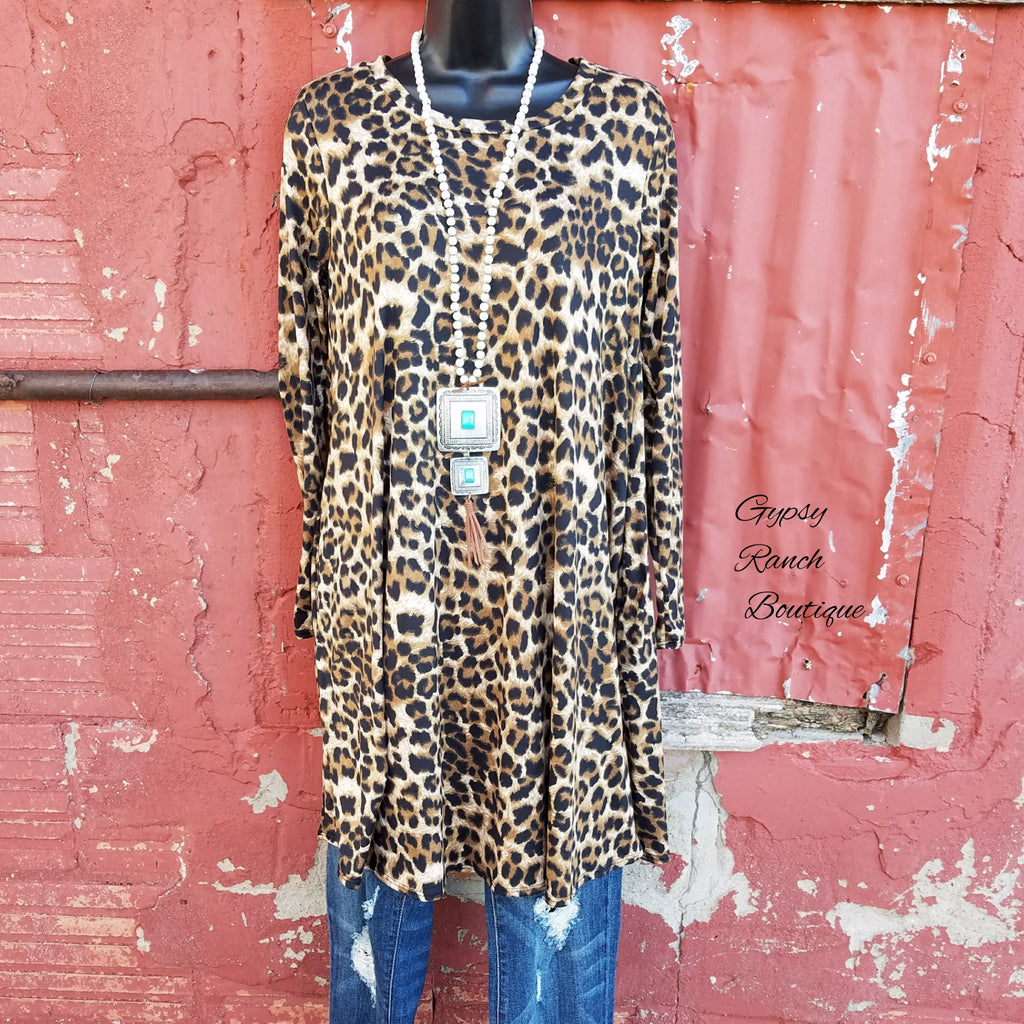 Fury Leopard Tunic Dress -Also in Plus Size