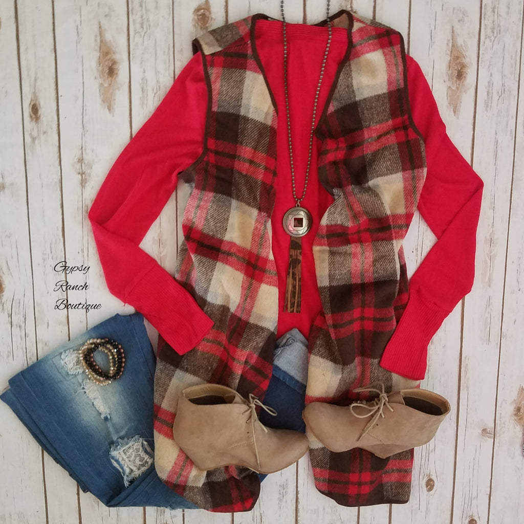 Fall for you Plaid Vest