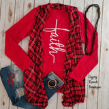 Angel Fire Plaid Vest - Also in Plus Size