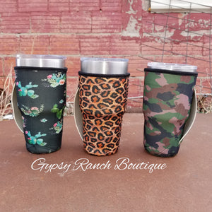 Cup Koozie With Handle - Several Prints
