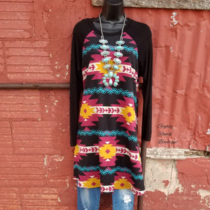 Justice for Tribal Tunic Top - Also in Plus Size