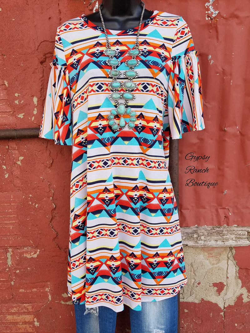Lasting Impact Tribal Tunic Top - Plus Size
