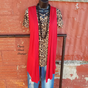 Timeless Travel Red Vest - Also in Plus Size