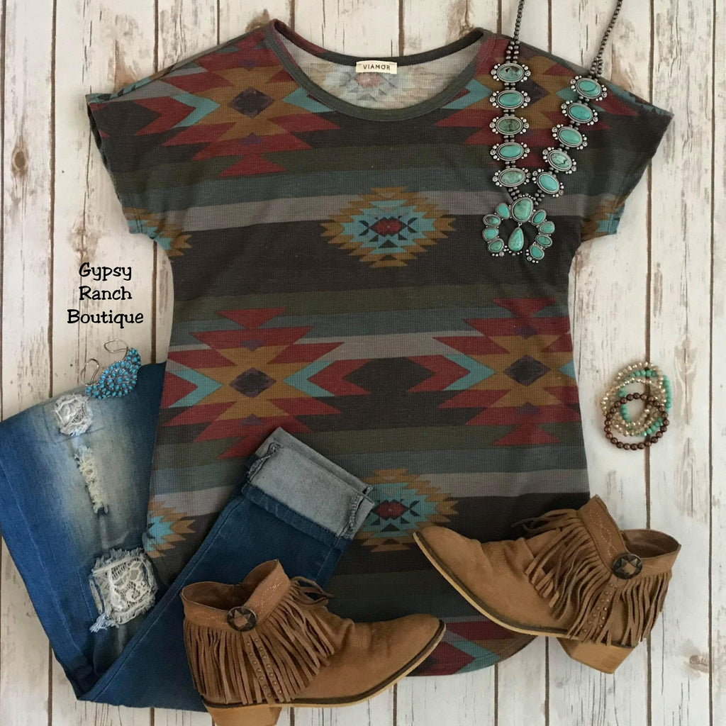 Iowa Park Tribal Top - Also in Plus Size
