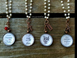 Long Scripture Necklaces