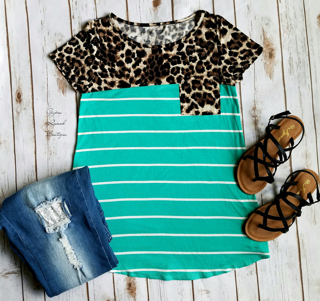 Breezy Leopard Top - Also in Plus Size