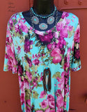 Lady Courageous Floral Tunic Top - Also in Plus Size