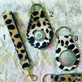 Hair on Hide Leopard Keychain