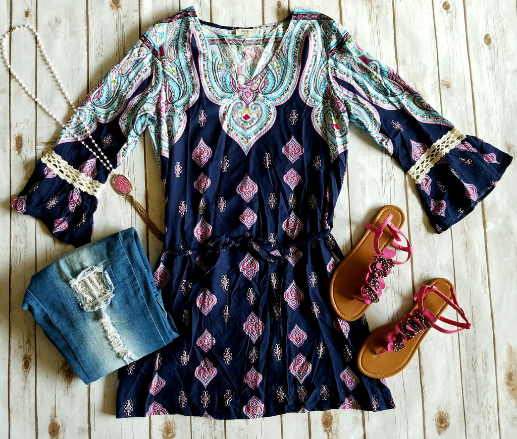 Roll out the Paisley Tunic Dress