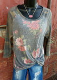 Featured Floral & Camo Top