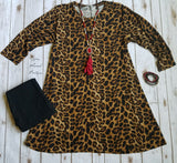 Limited Leopard Tunic Dress - Also in Plus Size