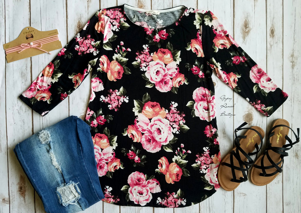 Ready Get Set Go Floral Top