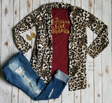 Leopard Craze Cardigan - Also in Plus Size