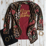 Wide Open Spaces Leopard Floral Cardigan - Also in Plus Size