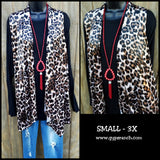 Ridley Leopard Velvet Vest- Also in plus Size