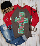 Christmas Cross Top - Also in Plus Size